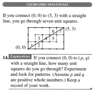Geoboard diagonals